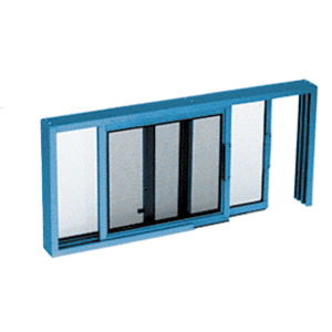"CRL SW1814P Custom Powder Painted Horizontal Sliding Service Window XO or OX Format with 1/4"" Glass Only - No Screen"
