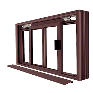 CRL DW1800DU Duranodic Bronze DW Series Manual Deluxe Sliding Service Window OX or XO without Screen
