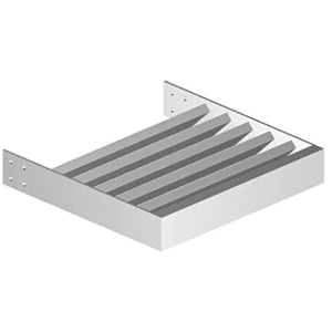 "CRL AXRC1X3SM Silver Metallic 1"" x 3"" Rectangular Tube Blade - 146"" Length"