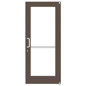 Bronze Black Anodized Custom Single Series 550 Wide Stile Offset Pivot Entrance Door for Overhead Concealed Door Closer