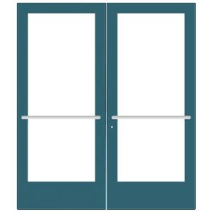CRL-U.S. Aluminum CD42771 Custom KYNAR Paint Custom Pair Series 400 Medium Stile Center Pivot Entrance Door for Overhead Concealed Door Closers