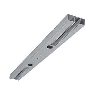 """Brushed Stainless Custom Length 4-1/2"""" Two Pocket Double Sided Door Header"""