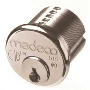 """Medeco Security Locks 10-0100-626-Z-02-S.A. HIGH SEC MORTISE CYLINDER 1"""" COMMERCIAL KEYWAY D CHROME"""