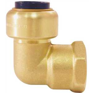 Tectite FSBFE12 1/2 in. Brass Push-to-Connect x 1/2 in. Female Pipe Thread 90-Degree Elbow