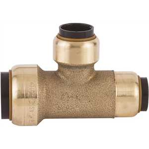 Tectite FSBT341212 3/4 in. x 1/2 in. x 1/2 in. Brass Push-to-Connect Reducer Tee