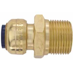 Tectite FSBMA1234 1/2 in. Brass Push-to-Connect x 3/4 in. Male Pipe Thread Reducing Adapter