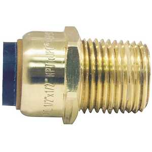 Tectite FSBMA12 1/2 in. Brass Push-to-Connect x Male Pipe Thread Adapter