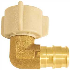 Apollo EPXFE12S 1/2 in. Brass PEX-A Expansion Barb x 1/2 in. FNPT Female Swivel 90-Degree Elbow