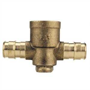 Apollo EPXDET12 1/2 in. Brass PEX-A Barb x Brass PEX Barb x Female Pipe Thread Drop-Ear Tee