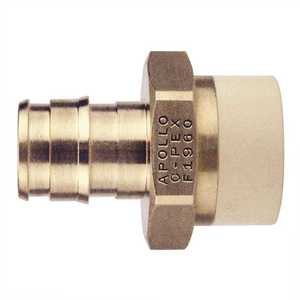 Apollo EPXCPVC12 1/2 in. Brass PEX-A Barb x 1/2 in. CPVC Straight Adapter