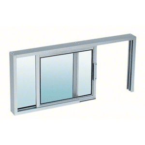 "CRL SW1818A Satin Anodized Horizontal Sliding Service Window XO or OX Format with 1/8"" Glass Only No Screen"