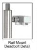"CRL Blumcraft DB100D5RKPS Polished Stainless Steel Right Hand Swing Rail Mount Keyed Access ""D"" Exterior Top Securing Deadbolt Handle"
