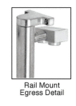 """CRL Blumcraft EG100B2RKPS Polished Stainless Left Hand Double Acting Rail Mount Keyed Access """"B"""" Exterior Top Securing Electronic Egress Control Handle"""