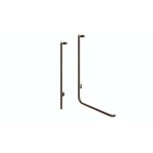 "Blumcraft Oil Rubbed Bronze Left Hand Reverse Rail Mount 'LS' Keyed Access Dummy Handle for 5/8"" Glass"
