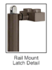 "CRL-USALUM ALUM-5P100LS4RK0RB-VCP-1 Blumcraft Oil Rubbed Bronze Left Hand Reverse Rail Mount 'LS' Keyed Access Dummy Handle for 5/8"" Glass"