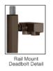 """CRL-USALUM ALUM-DB100D5R10RB-VCP-1 Blumcraft Brushed Stainless Right Hand Rail Mount """"D"""" Cylinder Thumbturn Deadbolt Handle"""