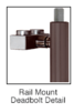 "CRL Blumcraft DB170F3R10RB Oil Rubbed Bronze Right Hand Reverse Rail Mount Cylinder/Thumbturn ""F"" Top Securing Deadbolt Exterior Handle"