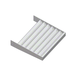 "Clear Anodized 2"" x 1/4"" Flat Bar Blade Extrusion - Custom Length"