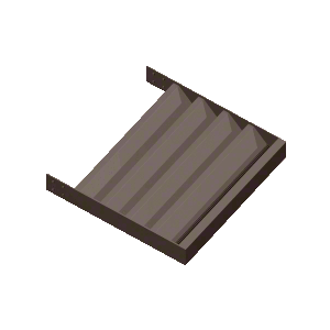 """Dark Bronze 4"""" Z-Blade Extrusion - Custom Length"""