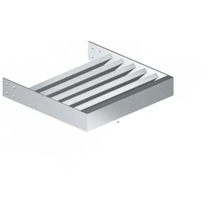 "CRL AXRC2X8SM Silver Metallic 2"" x 8"" Rectangular Tube Blade - 146"" Length"