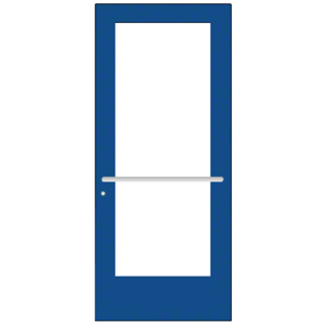 CRL-U.S. Aluminum DE51771 Custom KYNAR Paint Custom Single Series 550 Wide Stile Center Pivot Entrance Door for Overhead Concealed Door Closer