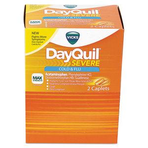 Procter & Gamble PFYBXDXSV25 Cold & Flu Caplets, Daytime, Severe Cold & Flu, 25 Packs/Box