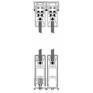 "CRL 6SDR2CSA Satin Anodized XO/OX Format Sliding Door Entrance System - 4"" Square Top 6"" Square Bottom Rail"