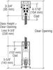 "CRL-USALUM ALUM-6SDR1ASA-VCP-1 Satin Anodized X-/-X Format Sliding Door Entrance System - 4"" Square Top 6"" Square Bottom Rail"