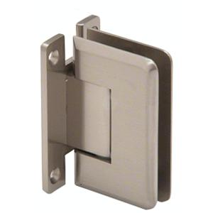 CRL P1N337BN Brushed Nickel Pinnacle 337 Series Adjustable Wall Mount Full Back Plate Hinge