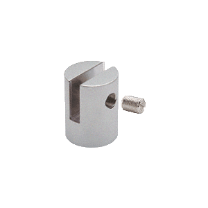 "CRL SM38SC Satin Chrome Slot Mount Standoff for 3/8"" Panels"