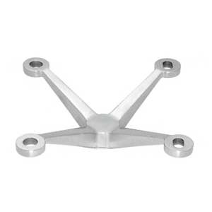 CRL PMH4BS Brushed Stainless 4-Way Arm Heavy Duty Post Mount Spider Fitting
