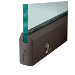"""CRL DR4T0RB38CL Oil Rubbed Bronze 3/8"""" Glass 4"""" Tapered Door Rail With Lock - Custom Length"""