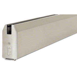 """CRL SR4TBS3812CL Brushed Stainless 4"""" Custom Length Tapered Sidelite Rail for 3/8"""" and 1/2"""" Glass"""