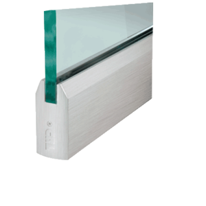 """CRL DR4TBS34C Brushed Stainless 3/4"""" Glass 4"""" Tapered Door Rail Without Lock - Custom Length"""