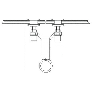 """CRL AMS0B23BS Brushed Stainless 2"""" x 3-1/8"""" Spider Fitting Post Adaptor"""