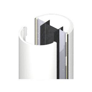 CRL ECR20CBW Custom Bone White Standard Series Round Column Covers Two Panels Opposing