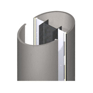 CRL PCE20CBS Custom Brushed Stainless Premier Series Elliptical Column Covers Two Panels Opposing