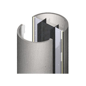 CRL PCR20CBS Custom Brushed Stainless Premier Series Round Column Covers Two Panels Opposing