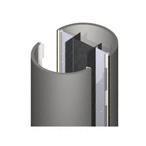 CRL PCR20CCM Custom Champagne Metallic Premier Series Round Column Covers Two Panels Opposing