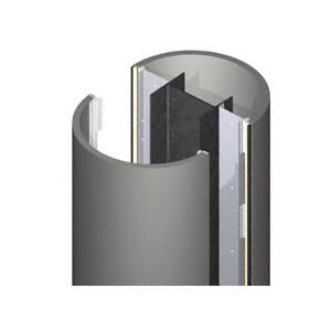 CRL ECR20CCM Custom Champagne Metallic Standard Series Round Column Covers Two Panels Opposing