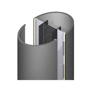 CRL ECE45CMP Custom Mica Platinum Standard Series Elliptical Column Covers Four Panels Staggered