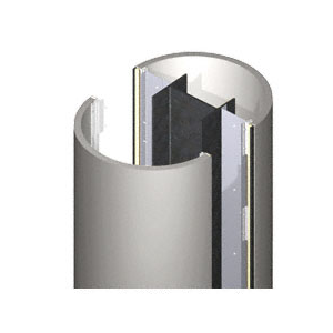 CRL PCR30CNDS Custom Non-Directional Stainless Premier Series Round Column Covers Three Panels Staggered
