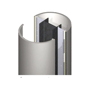 CRL PCR20CNDS Custom Non-Directional Stainless Premier Series Round Column Covers Two Panels Opposing