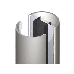 CRL DCR40CNDS Custom Non-Directional Stainless Series Round Column Covers Four Panels Opposing