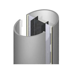 CRL ECE20CNDS Custom Non-Directional Stainless Standard Series Elliptical Column Covers Two Panels Opposing