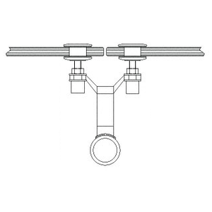 """CRL AMS0B112CPS Polished Stainless 1-1/2"""" Diameter Spider Fitting Post adaptor- Custom Length"""