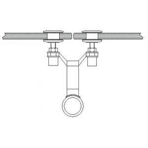 """CRL AMS0B24PS Polished Stainless 2"""" x 4-1/8"""" Spider Fitting Post Adaptor"""