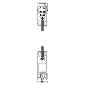 "CRL 6SDR21BBL Black Powder Coated XX Format Sliding Door Entrance System - 4"" Square Top 6"" Square Bottom Rail"