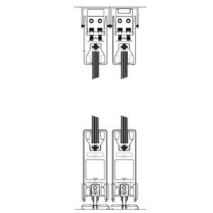 "CRL 6SDR42FBL Black Powder Coated XXXX Format Sliding Door Entrance System - 4"" Square Top 6"" Square Bottom Rail"