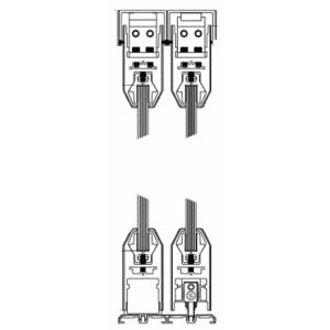 "CRL SDR42FBL Black Powder Coat XXXX Format Sliding Door Entrance System - 4"" Top and Bottom Tapered Rail"